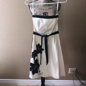 White House/Black Market strapless dress.